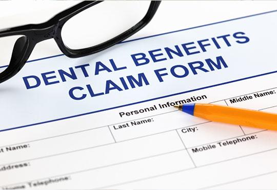 Dental benefits claim form
