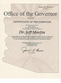 Office of the governor certificate